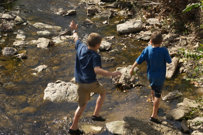 WIlson Park Creek fun